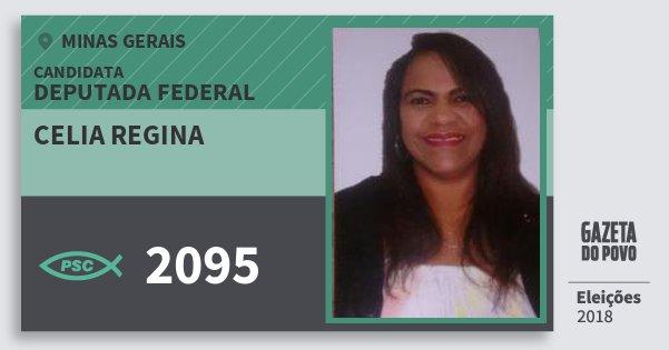 Santinho Celia Regina 2095 (PSC) Deputada Federal | Minas Gerais | Eleições 2018