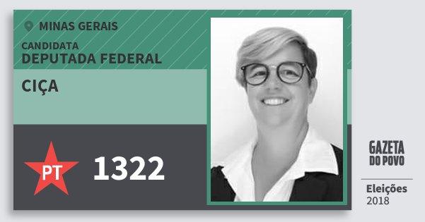 Santinho Ciça 1322 (PT) Deputada Federal | Minas Gerais | Eleições 2018