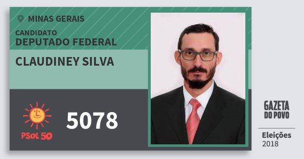 Santinho Claudiney Silva 5078 (PSOL) Deputado Federal | Minas Gerais | Eleições 2018