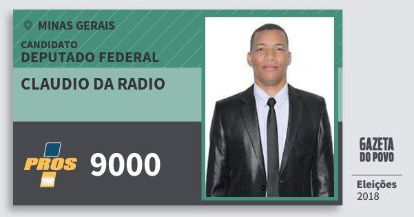 Santinho Claudio da Radio 9000 (PROS) Deputado Federal | Minas Gerais | Eleições 2018