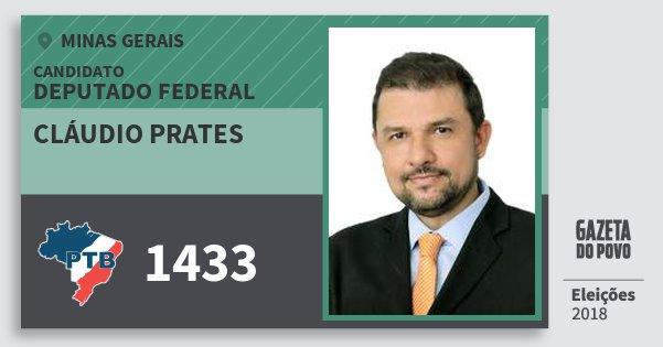 Santinho Cláudio Prates 1433 (PTB) Deputado Federal | Minas Gerais | Eleições 2018