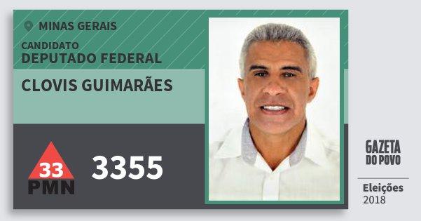 Santinho Clovis Guimarães 3355 (PMN) Deputado Federal | Minas Gerais | Eleições 2018