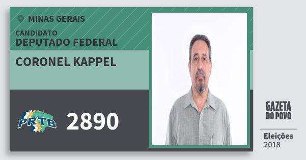 Santinho Coronel Kappel 2890 (PRTB) Deputado Federal | Minas Gerais | Eleições 2018