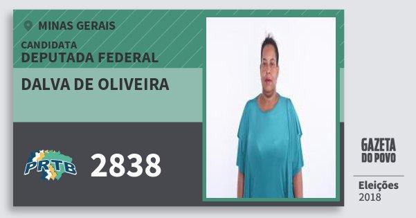 Santinho Dalva de Oliveira 2838 (PRTB) Deputada Federal | Minas Gerais | Eleições 2018