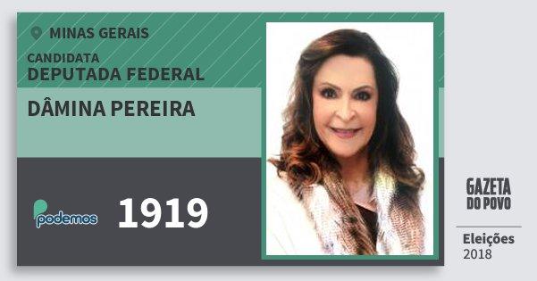 Santinho Dâmina Pereira 1919 (PODE) Deputada Federal | Minas Gerais | Eleições 2018