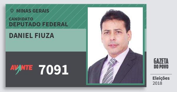 Santinho Daniel Fiuza 7091 (AVANTE) Deputado Federal | Minas Gerais | Eleições 2018