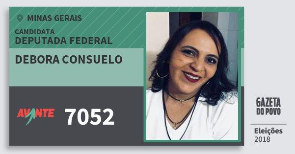 Santinho Debora Consuelo 7052 (AVANTE) Deputada Federal | Minas Gerais | Eleições 2018