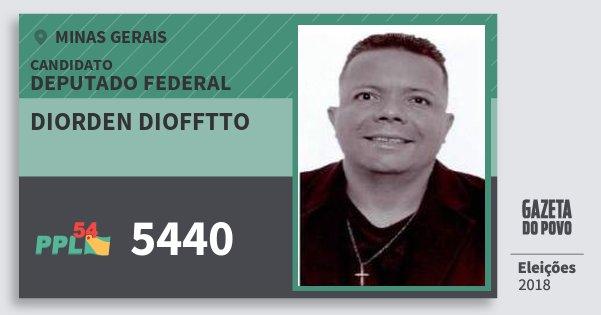 Santinho Diorden Diofftto 5440 (PPL) Deputado Federal | Minas Gerais | Eleições 2018