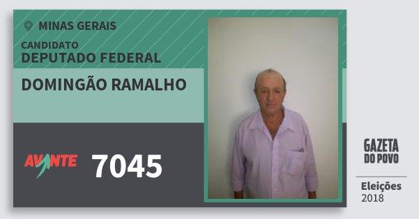 Santinho Domingão Ramalho 7045 (AVANTE) Deputado Federal | Minas Gerais | Eleições 2018