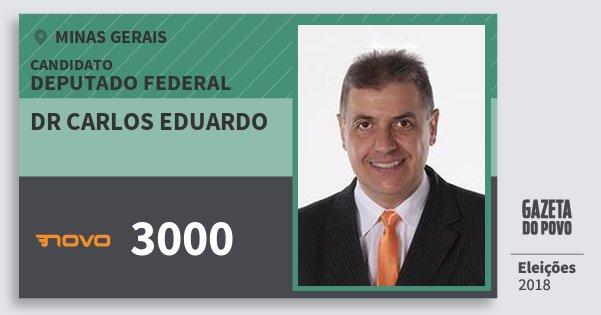 Santinho Dr Carlos Eduardo 3000 (NOVO) Deputado Federal | Minas Gerais | Eleições 2018