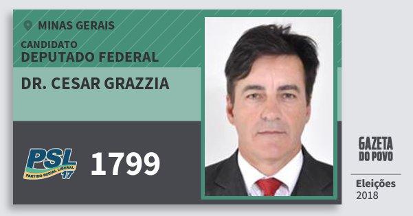 Santinho Dr. Cesar Grazzia 1799 (PSL) Deputado Federal | Minas Gerais | Eleições 2018