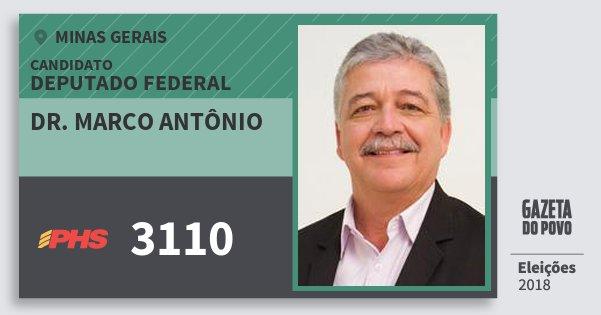 Santinho Dr. Marco Antônio 3110 (PHS) Deputado Federal | Minas Gerais | Eleições 2018