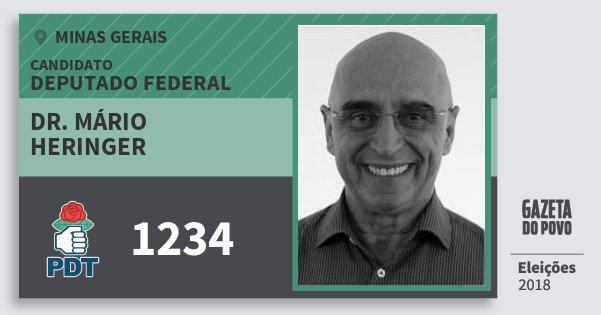 Santinho Dr. Mário Heringer 1234 (PDT) Deputado Federal | Minas Gerais | Eleições 2018