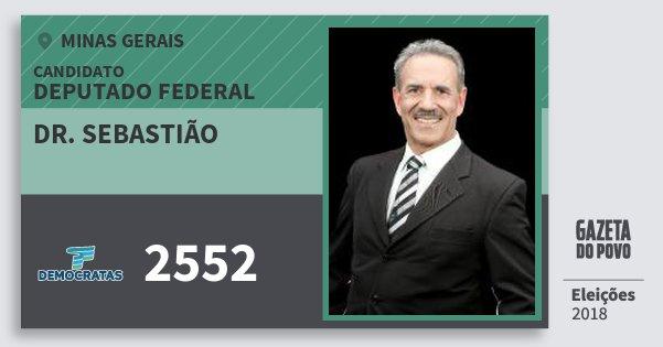 Santinho Dr. Sebastião 2552 (DEM) Deputado Federal | Minas Gerais | Eleições 2018