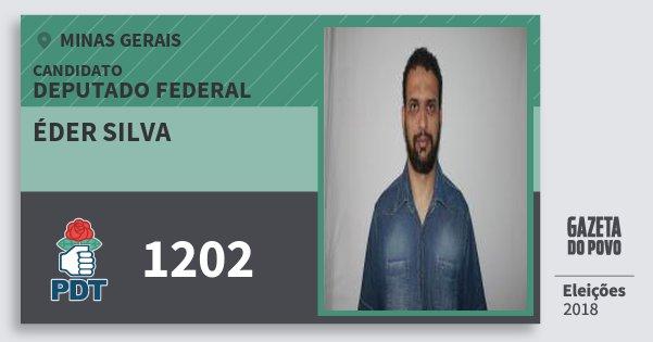 Santinho Éder Silva 1202 (PDT) Deputado Federal | Minas Gerais | Eleições 2018