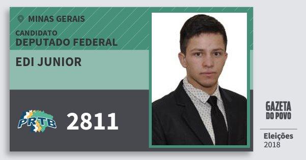 Santinho Edi Junior 2811 (PRTB) Deputado Federal | Minas Gerais | Eleições 2018