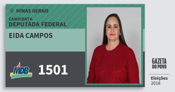 Santinho Eida Campos 1501 (MDB) Deputada Federal | Minas Gerais | Eleições 2018