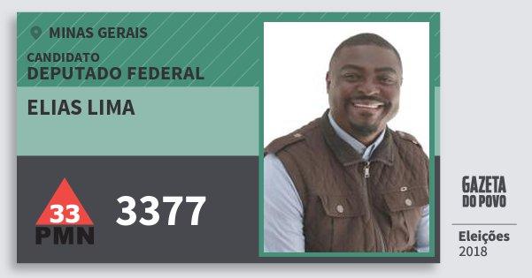 Santinho Elias Lima 3377 (PMN) Deputado Federal | Minas Gerais | Eleições 2018