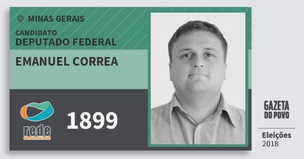 Santinho Emanuel Correa 1899 (REDE) Deputado Federal | Minas Gerais | Eleições 2018