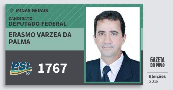 Santinho Erasmo Varzea da Palma 1767 (PSL) Deputado Federal | Minas Gerais | Eleições 2018
