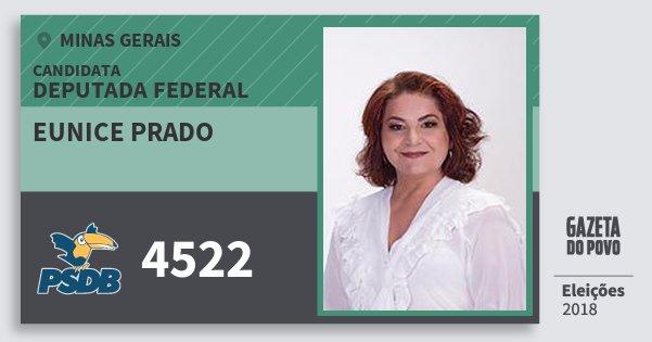 Santinho Eunice Prado 4522 (PSDB) Deputada Federal | Minas Gerais | Eleições 2018