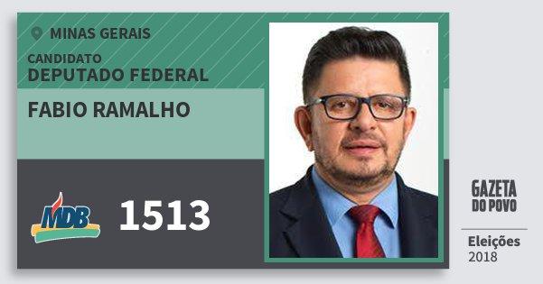 Santinho Fabio Ramalho 1513 (MDB) Deputado Federal | Minas Gerais | Eleições 2018