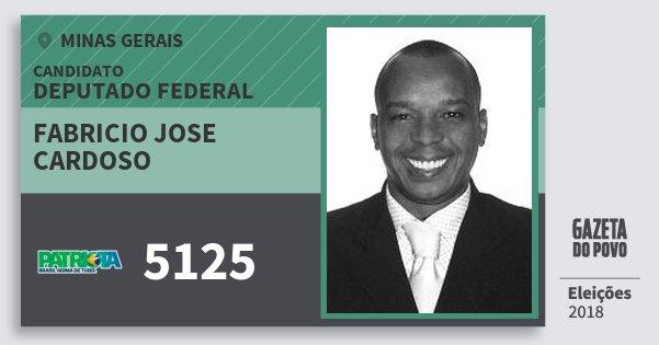 Santinho Fabricio Jose Cardoso 5125 (PATRI) Deputado Federal | Minas Gerais | Eleições 2018