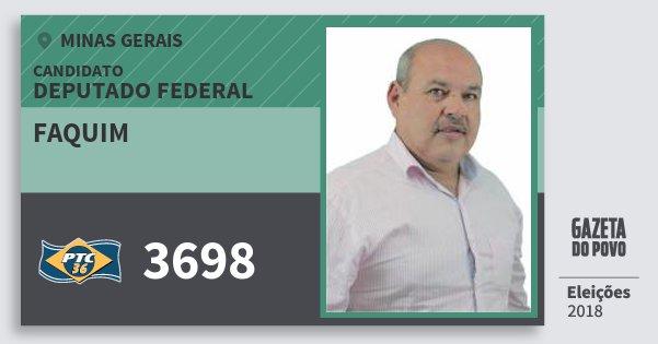 Santinho Faquim 3698 (PTC) Deputado Federal | Minas Gerais | Eleições 2018
