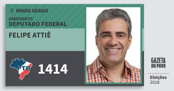 Santinho Felipe Attiê 1414 (PTB) Deputado Federal | Minas Gerais | Eleições 2018