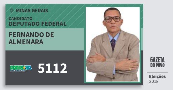 Santinho Fernando de Almenara 5112 (PATRI) Deputado Federal | Minas Gerais | Eleições 2018
