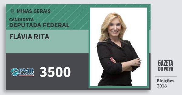 Santinho Flávia Rita 3500 (PMB) Deputada Federal | Minas Gerais | Eleições 2018