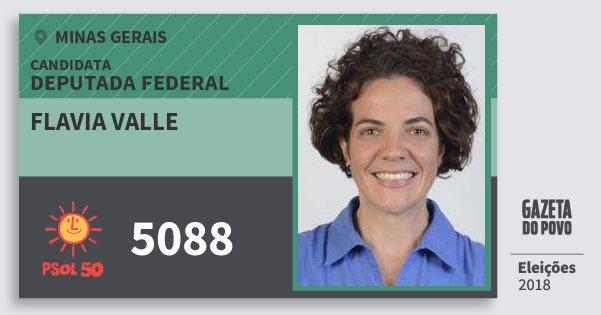 Santinho Flavia Valle 5088 (PSOL) Deputada Federal | Minas Gerais | Eleições 2018