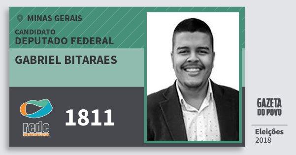 Santinho Gabriel Bitaraes 1811 (REDE) Deputado Federal | Minas Gerais | Eleições 2018