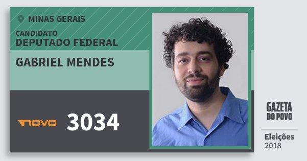 Santinho Gabriel Mendes 3034 (NOVO) Deputado Federal | Minas Gerais | Eleições 2018