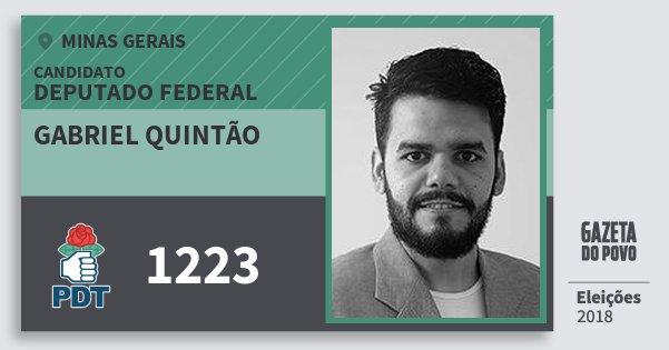 Santinho Gabriel Quintão 1223 (PDT) Deputado Federal | Minas Gerais | Eleições 2018