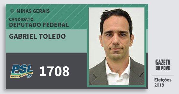 Santinho Gabriel Toledo 1708 (PSL) Deputado Federal | Minas Gerais | Eleições 2018