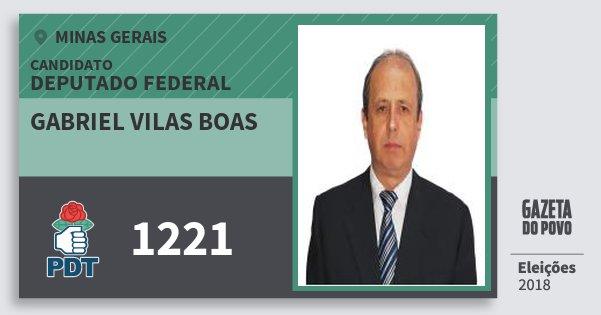 Santinho Gabriel Vilas Boas 1221 (PDT) Deputado Federal | Minas Gerais | Eleições 2018