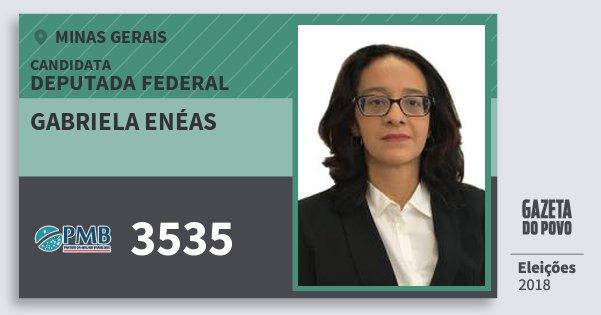 Santinho Gabriela Enéas 3535 (PMB) Deputada Federal | Minas Gerais | Eleições 2018
