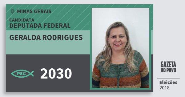 Santinho Geralda Rodrigues 2030 (PSC) Deputada Federal   Minas Gerais   Eleições 2018