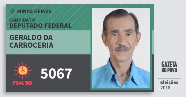 Santinho Geraldo da Carroceria 5067 (PSOL) Deputado Federal | Minas Gerais | Eleições 2018
