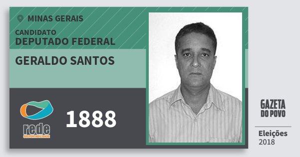Santinho Geraldo Santos 1888 (REDE) Deputado Federal | Minas Gerais | Eleições 2018