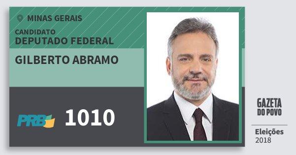 Santinho Gilberto Abramo 1010 (PRB) Deputado Federal | Minas Gerais | Eleições 2018