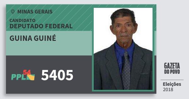Santinho Guina Guiné 5405 (PPL) Deputado Federal | Minas Gerais | Eleições 2018