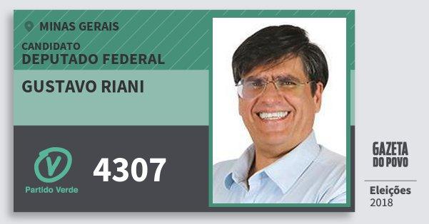 Santinho Gustavo Riani 4307 (PV) Deputado Federal | Minas Gerais | Eleições 2018