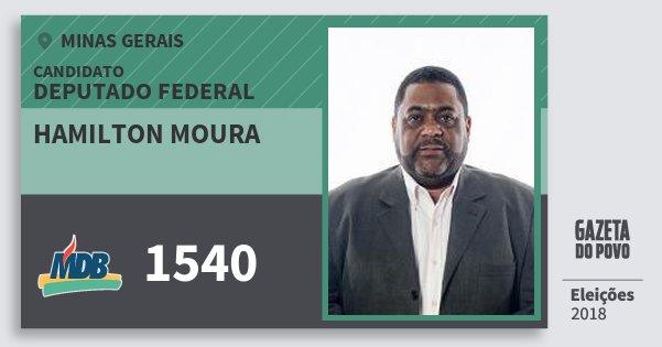 Santinho Hamilton Moura 1540 (MDB) Deputado Federal | Minas Gerais | Eleições 2018