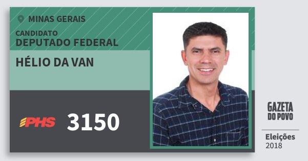 Santinho Hélio da van 3150 (PHS) Deputado Federal | Minas Gerais | Eleições 2018