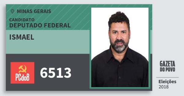 Santinho Ismael 6513 (PC do B) Deputado Federal | Minas Gerais | Eleições 2018