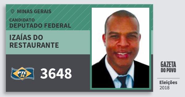 Santinho Izaías do Restaurante 3648 (PTC) Deputado Federal | Minas Gerais | Eleições 2018