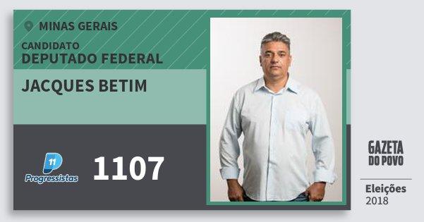 Santinho Jacques Betim 1107 (PP) Deputado Federal   Minas Gerais   Eleições 2018