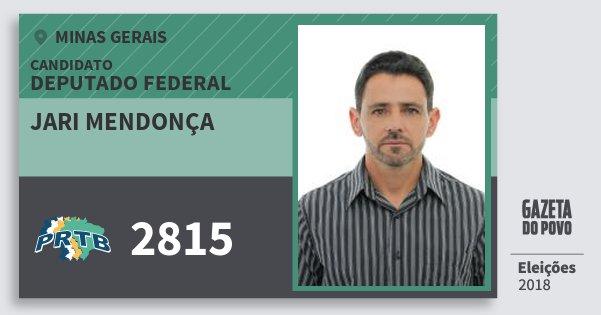 Santinho Jari Mendonça 2815 (PRTB) Deputado Federal | Minas Gerais | Eleições 2018